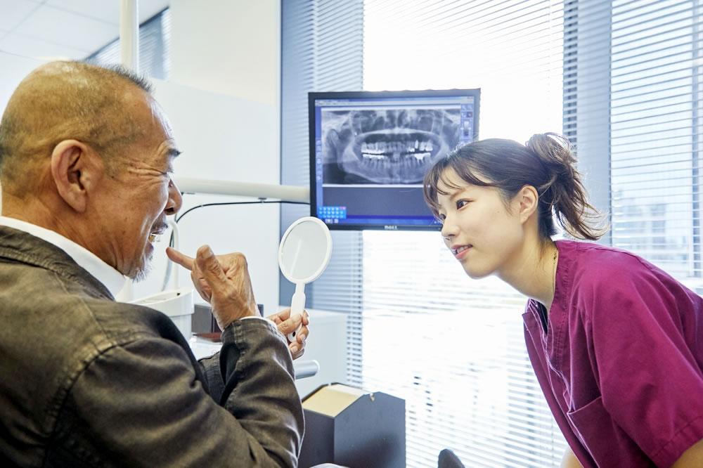 歯科衛生士による細やかなケア